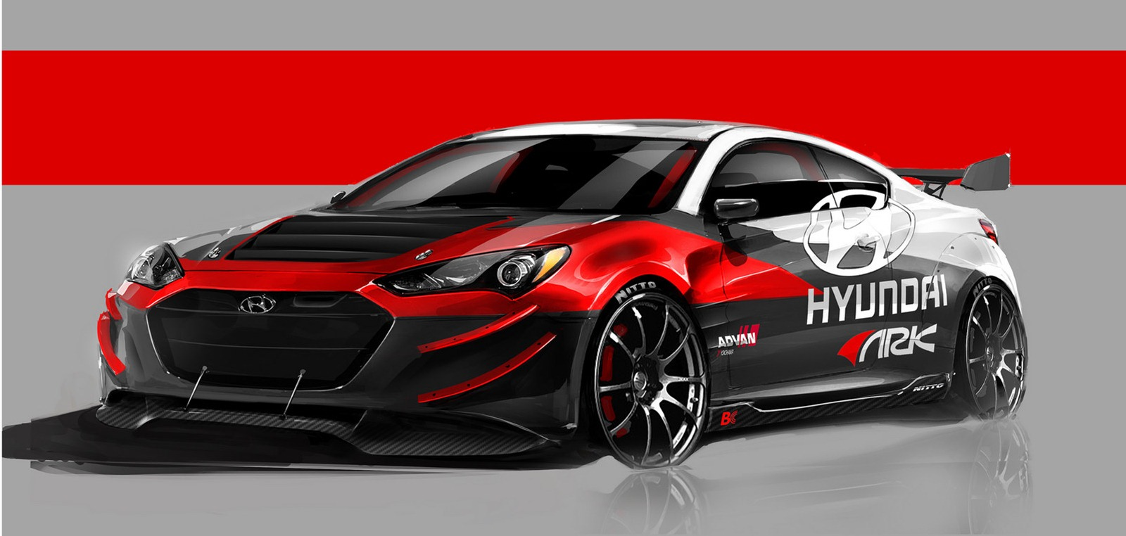 hyundai and ark performance announce awesome genesis coupe for sema 49778 1 - 2011 Hyundai Genesis Coupe 3 8 Track At