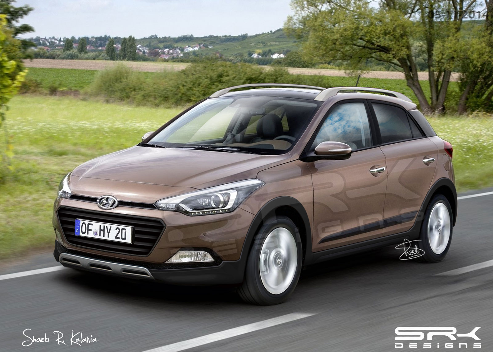 hyundai i20 cross surfaces ahead of 2015 debut autoevolution. Black Bedroom Furniture Sets. Home Design Ideas