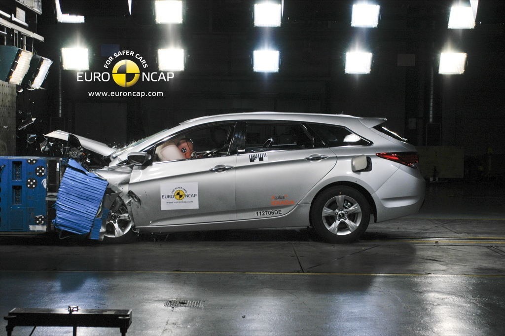 hyundai i40 takes top euro ncap rating - autoevolution