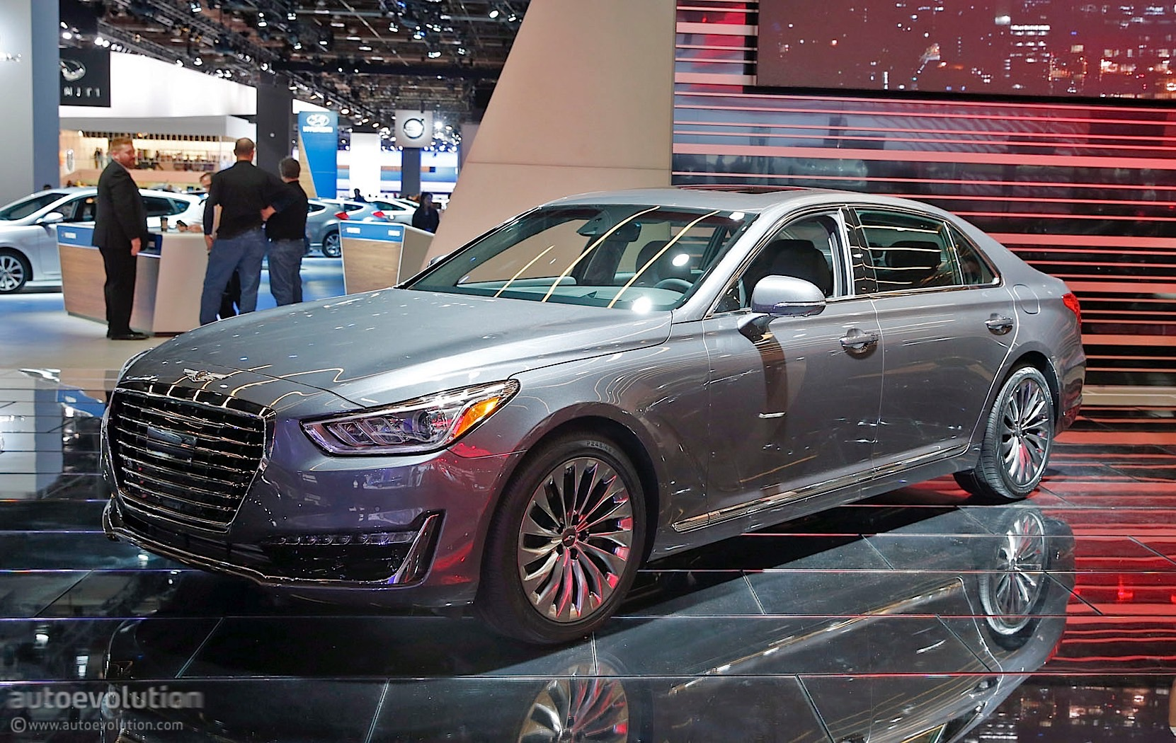genesis brings g90 luxury sedan at the 2016 detroit auto show autoevolution. Black Bedroom Furniture Sets. Home Design Ideas