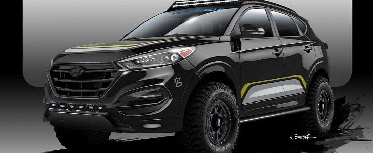 hyundai tucson road offroad autoevolution sema goes way test