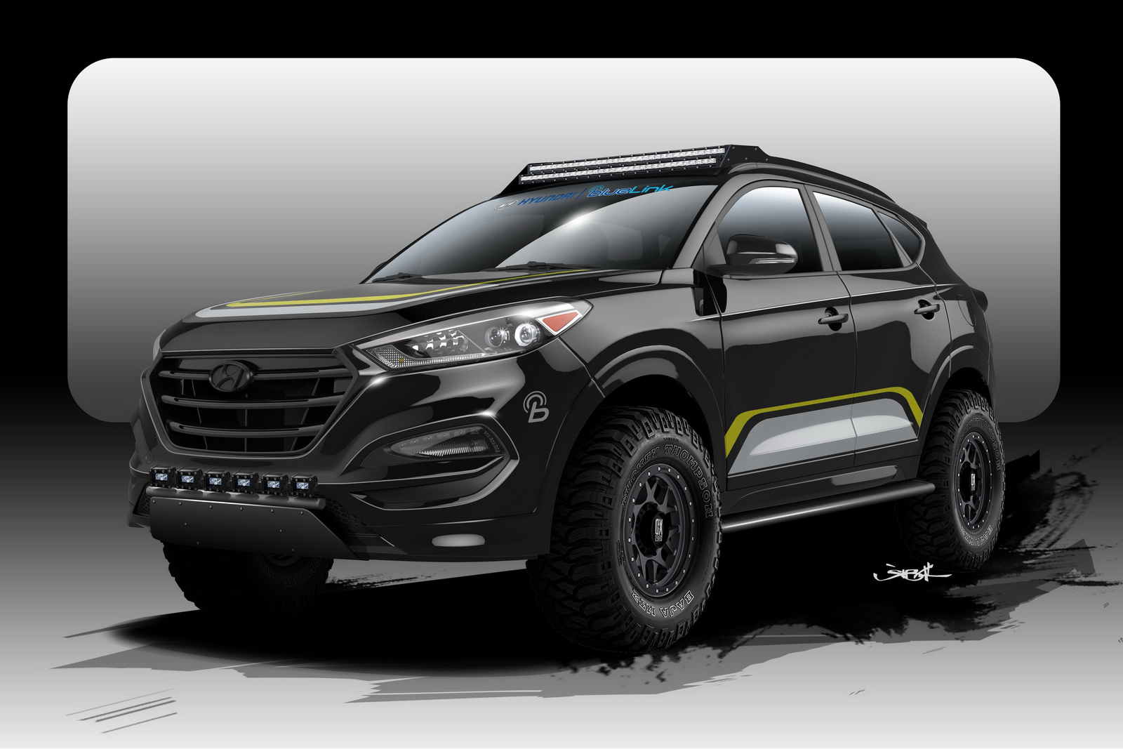 hyundai tucson goes to sema the off road way autoevolution. Black Bedroom Furniture Sets. Home Design Ideas