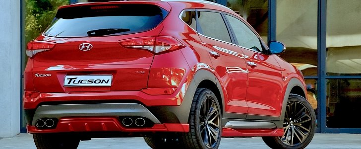 hyundai tucson sport has body kit quad pipes and 204 hp 1. Black Bedroom Furniture Sets. Home Design Ideas