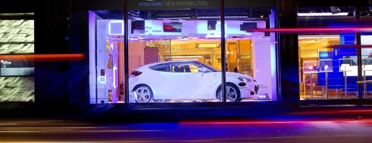 Hyundai Veloster Displayed at Harrods