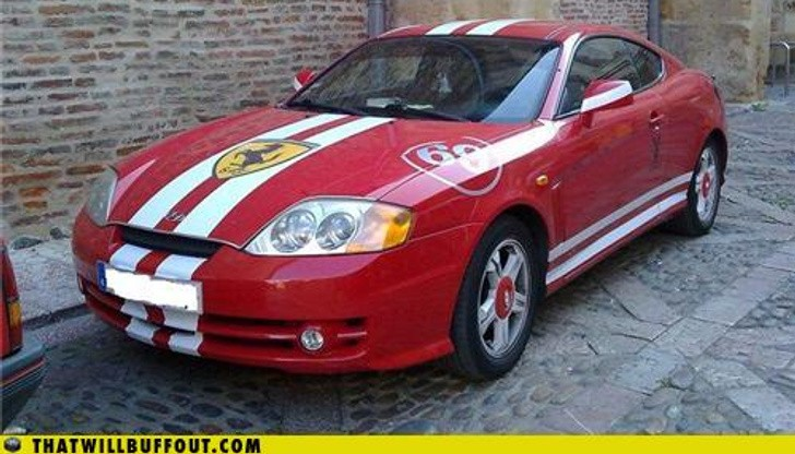 Hyundarri: Old Hyundai Coupe With Ferrari Looks