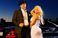 Ice-T and Coco with his 2004 Mercedes SL55, by Gregory Bojorquez