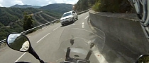Idiot Driver Fails to Keep His Lane, Almost Hits Motorcyclist [Video]