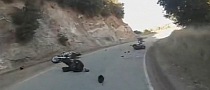 Idiot Ducati Rider Head-On Collision with a Harley-Davidson [Video]