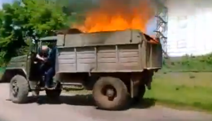 If Ghost Rider Drove a Russian Truck on Fire [Video]