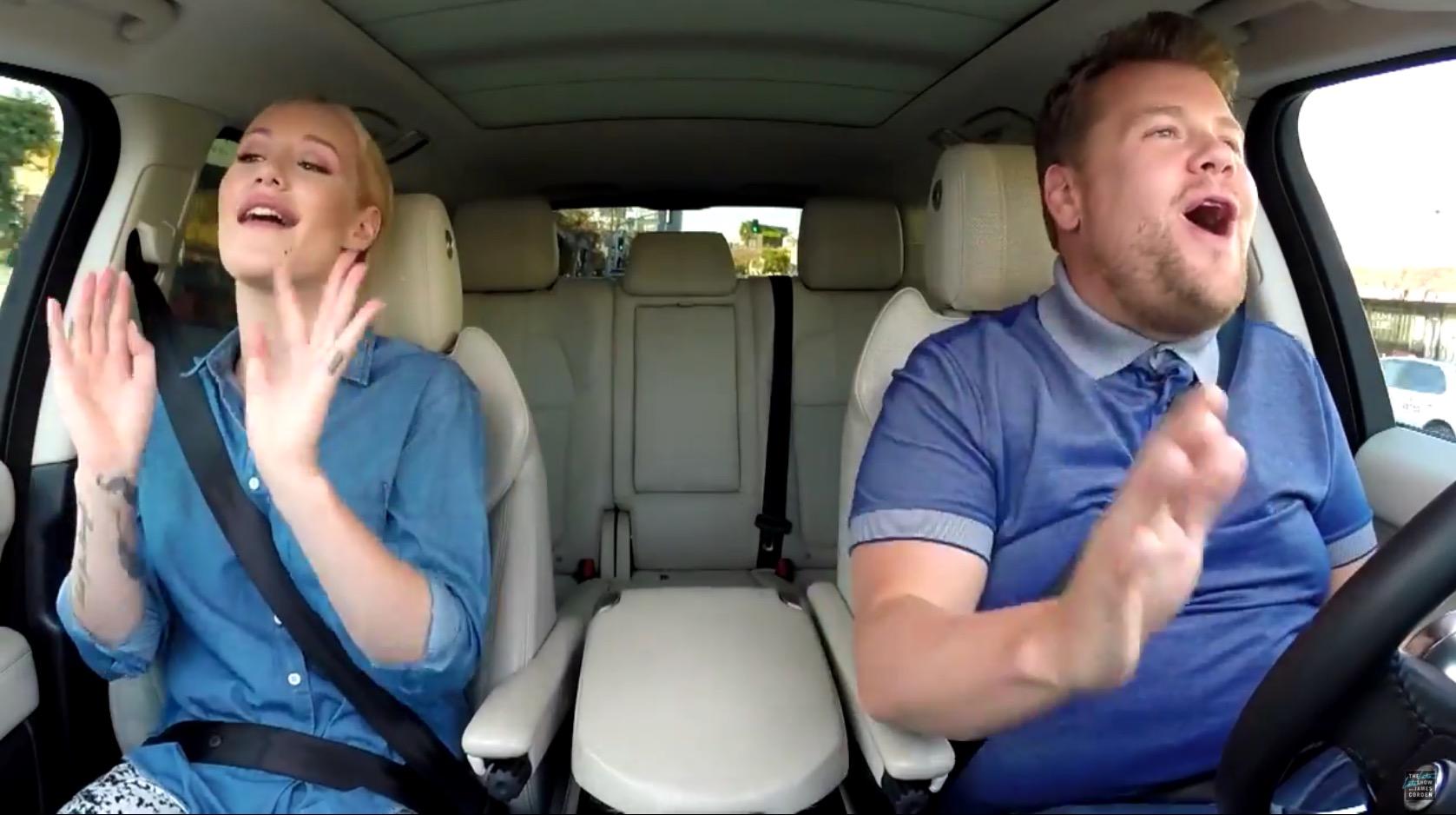 Iggy azalea gets the carpool karaoke gig in the late late for Car pool karaoke show