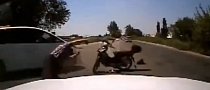 Ignorant Driver Collides with Innocent Rider [Video]