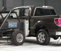 Ford F-150 during IIHS side crash tests