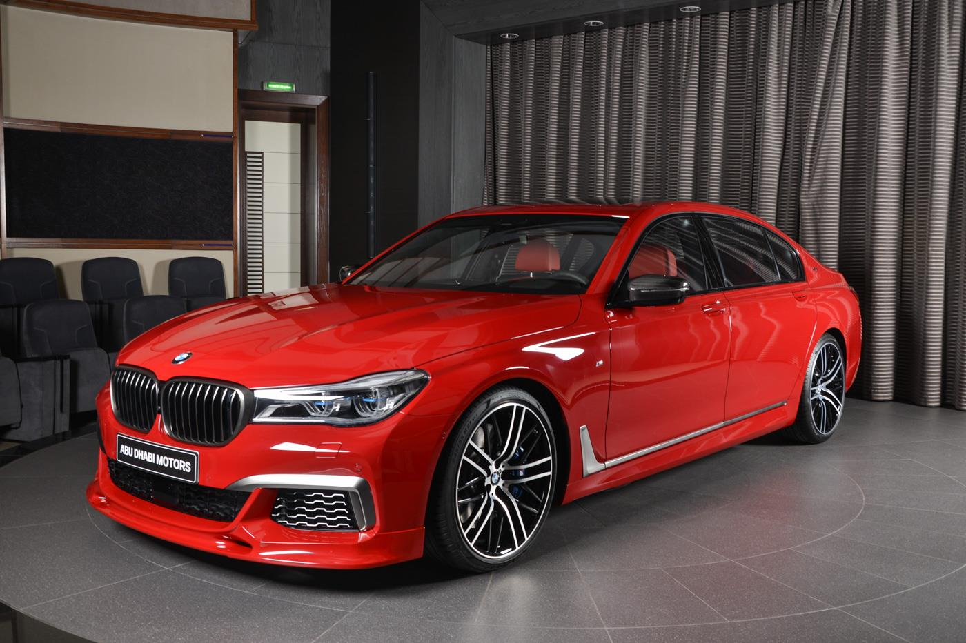 Imola Red Bmw M760li In Abu Dhabi Has Everything Autoevolution