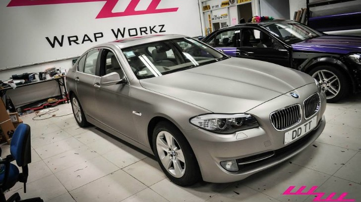 Imperial Blue BMW Turns Frozen Silver at Wrap Workz [Photo Gallery][Video]