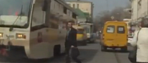 In Soviet Russia, Pedestrians Crash into Trams [Video]