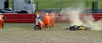 Incredible Close Call as Marquez' Bike Crashes into Crutchlow's [Video]