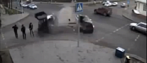 Incredibly Lucky Girl Escapes Massive Car Crash [Video]