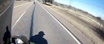 Incredibly Stupid Rider in Close Call at 160 MPH [Video]