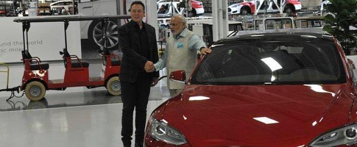 Indian Prime Minister Narendra Modi Meets Elon Musk at Tesla Motors HQ -  autoevolution