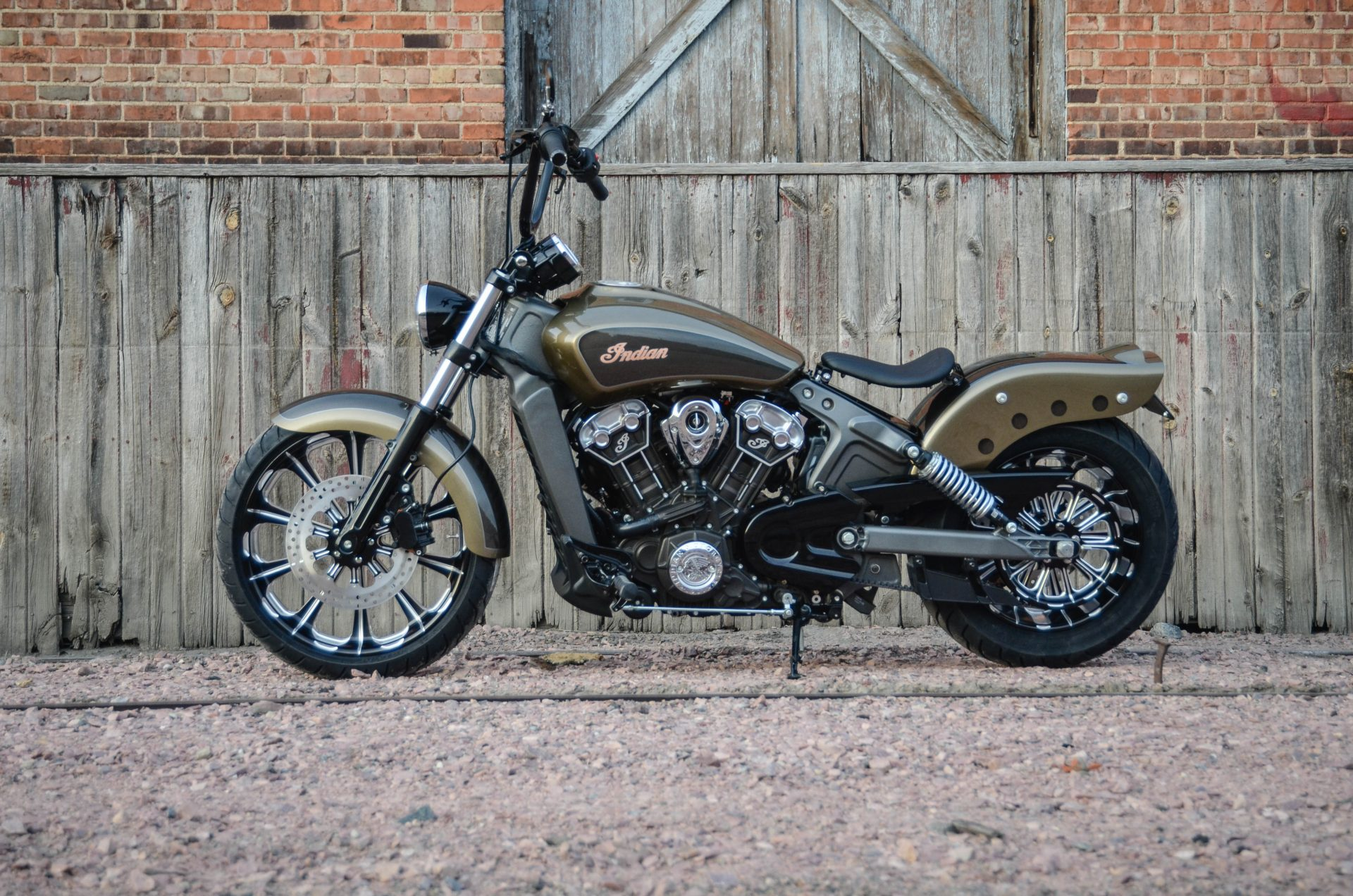 Indian Scout Outrider Chopper Looks Sharp