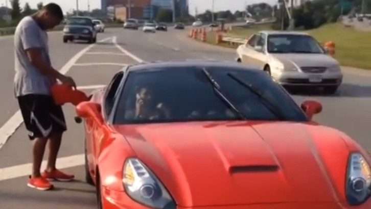 Indiana Pacers Evan Turner Stranded In His Ferrari On The