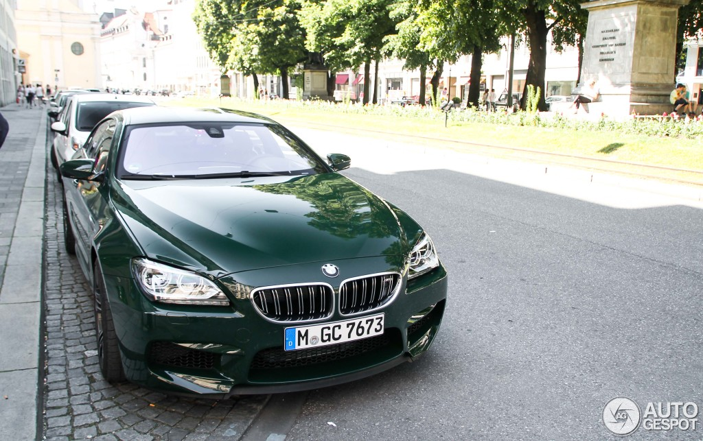 Individual Bmw M6 Gran Coupe Stuns With Its British Racing Green Paint Autoevolution