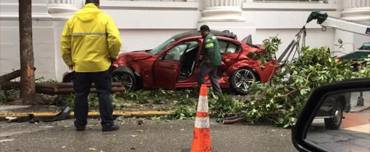 San Francisco Bmw >> Individual Frozen Red Bmw M3 Gets Stolen And Crashed In San