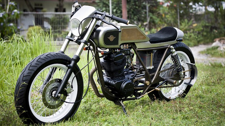 Indonesian Custom Kawasaki KZ200 Looks Fantastic