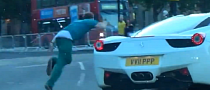 Inebriated Londoner Thinks He Can Outrun a Ferrari 458 [Video]