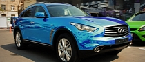 Infiniti FX in Blue Chrome [Photo Gallery]