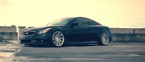 Infiniti G37S Coupe on Vossen CVT Directional Wheels [Video]