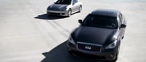 Infiniti M35h vs Porsche Panamera S Hybrid: Fastest Hybrid Race [Video]