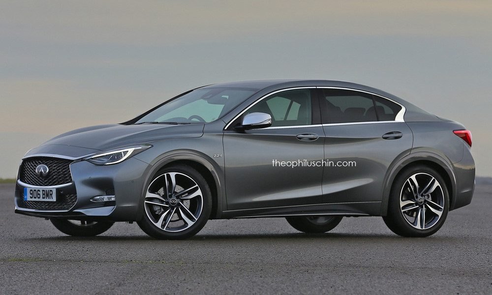 infiniti q30 sedan rendering makes more sense now with the bmw 1 series sedan autoevolution. Black Bedroom Furniture Sets. Home Design Ideas
