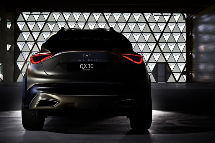 Infiniti QX30 Pre-Production Concept Shows Its Rear Ahead of Geneva