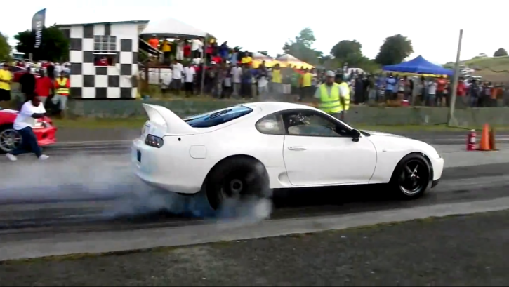 Insanely Powered Toyota Supra Kills an Evo 9 [Video]