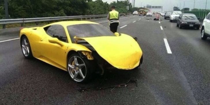 IPE Exhaust Owner Crashes Ferrari 458 While Street Racing