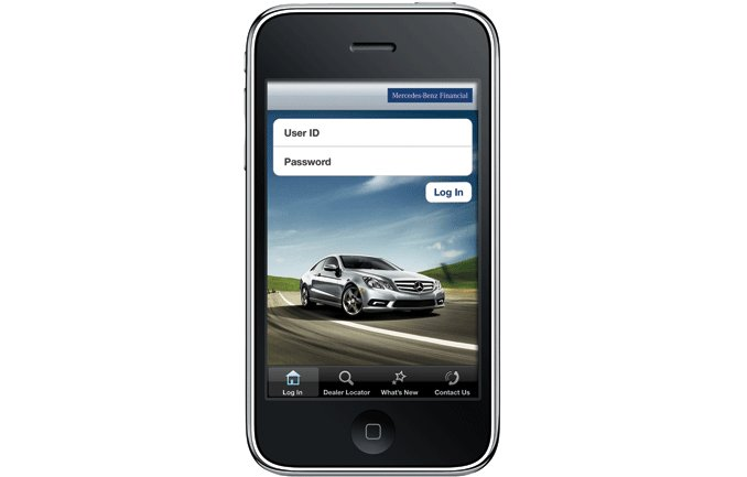 Iphone financial app from mercedes benz now on ipad for Mercedes benz financial contact number
