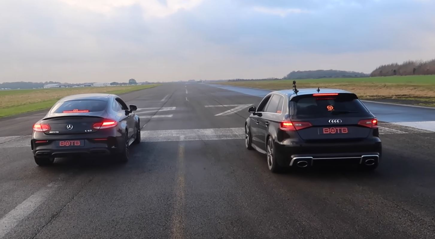 Is the audi rs3 faster than a mercedes amg c63 for How much is a mercedes benz c63 amg