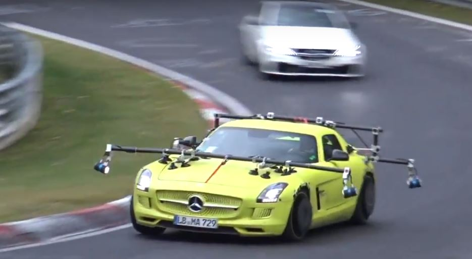 Is This A Mercedes Amg Gt Ev Test Mule Sls Electric Drive Hits Nurburgring