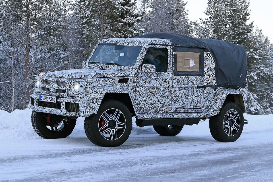 is this the mercedes amg g63 4x4 pickup truck playing in the snow autoevolution. Black Bedroom Furniture Sets. Home Design Ideas