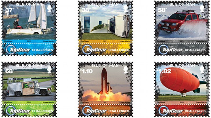 Isle of Man Top Gear Postage Stamps Released