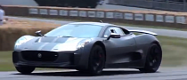 Jaguar C-X75 Runs the Goodwood Hill [Video]