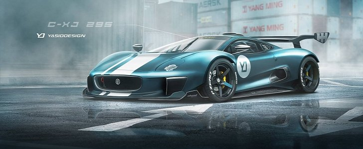 jaguar c x75 xj220 rendered as the supercar the company dropped to build evs autoevolution. Black Bedroom Furniture Sets. Home Design Ideas