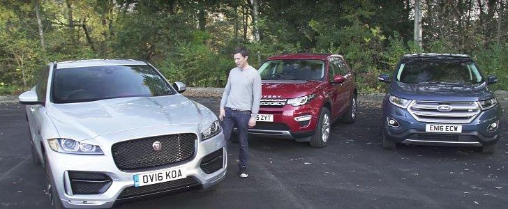 Jaguar F Pace Wins Land Rover Discovery Sport Ford Edge Comparison Review Autoevolution