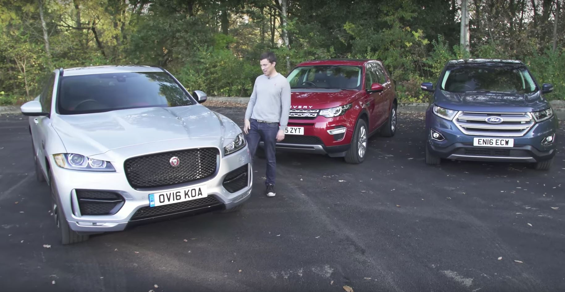Jaguar F Pace Wins Land Rover Discovery Sport Ford Edge Comparison Review