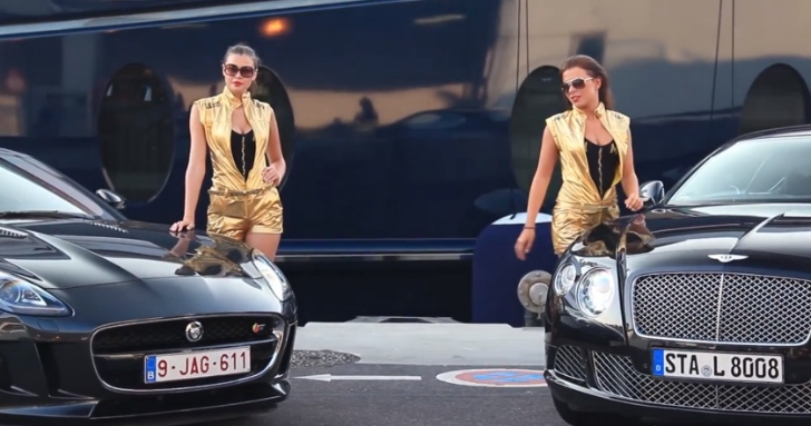 Jaguar F-Type and Bentley Continental GT Meet 2 Hot Models in Monaco [Video]