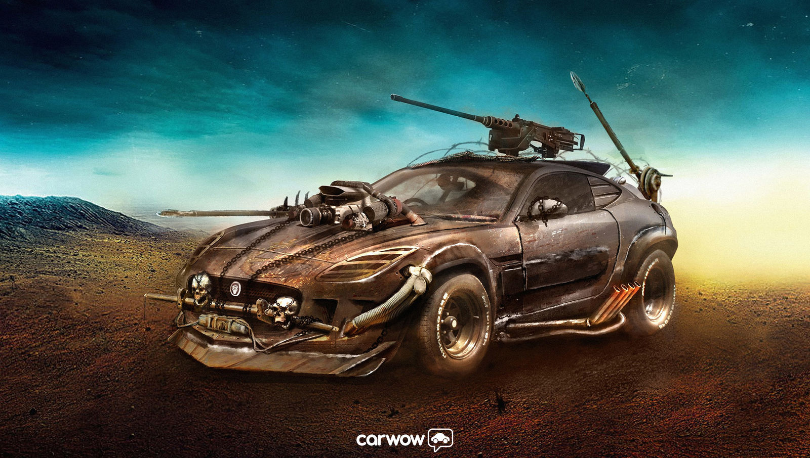 Jaguar F Type Imagined As Mad Max Fury Road War Machine Autoevolution