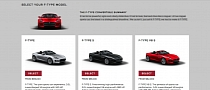 Jaguar F-Type US Pricing Announced, Configurator Launched