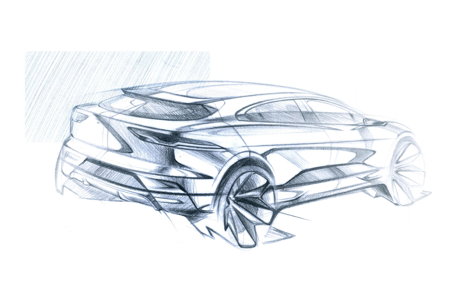 Jaguar I-Pace Design Sketches Surface - autoevolution