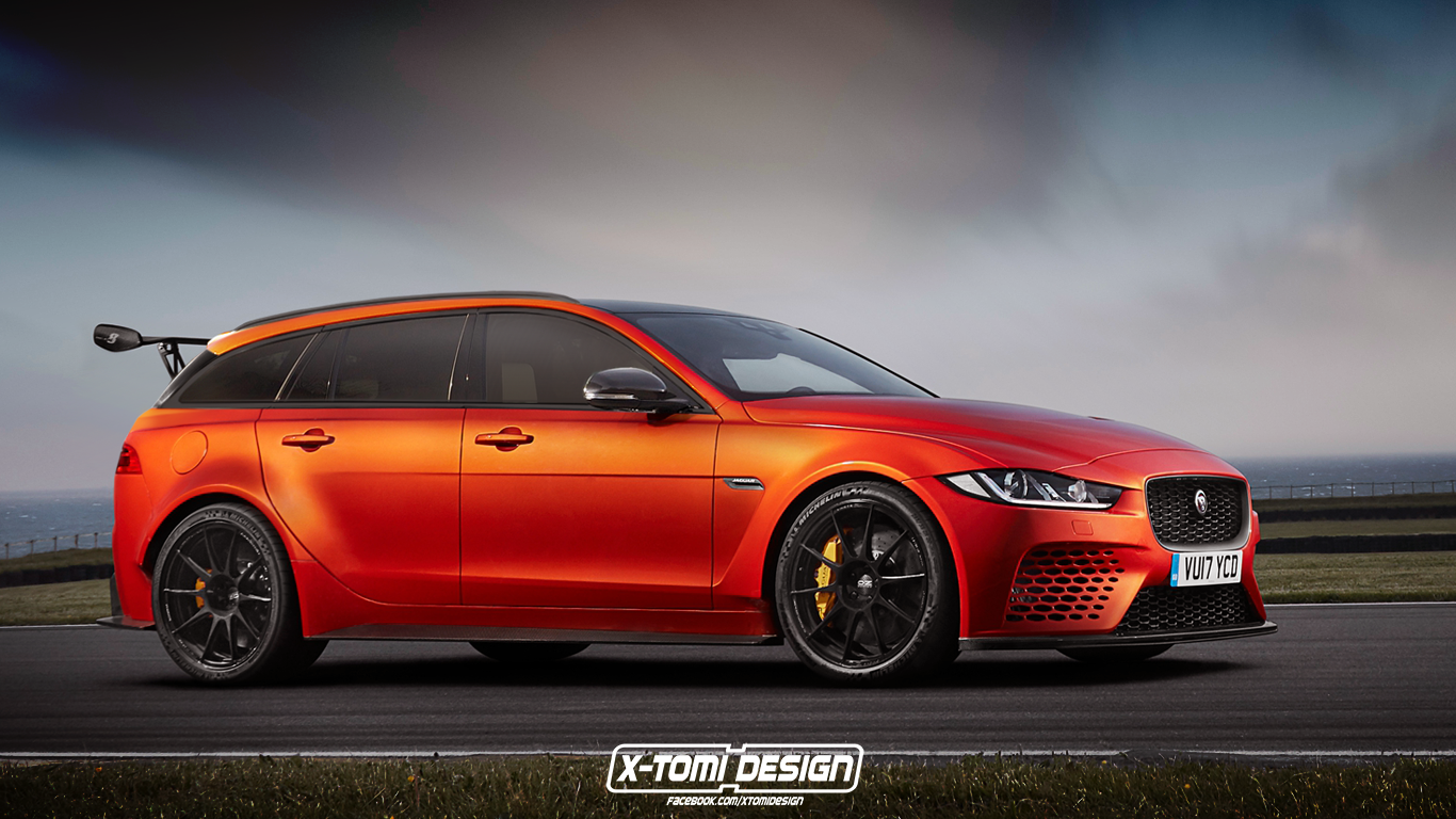 jaguar xe sv project 8 sportbrake looks like a modern volvo 850 racer autoevolution. Black Bedroom Furniture Sets. Home Design Ideas